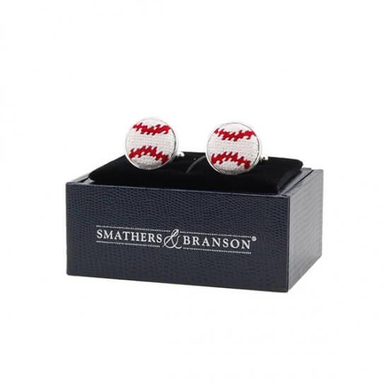 Smathers and Branson baseball cufflinks
