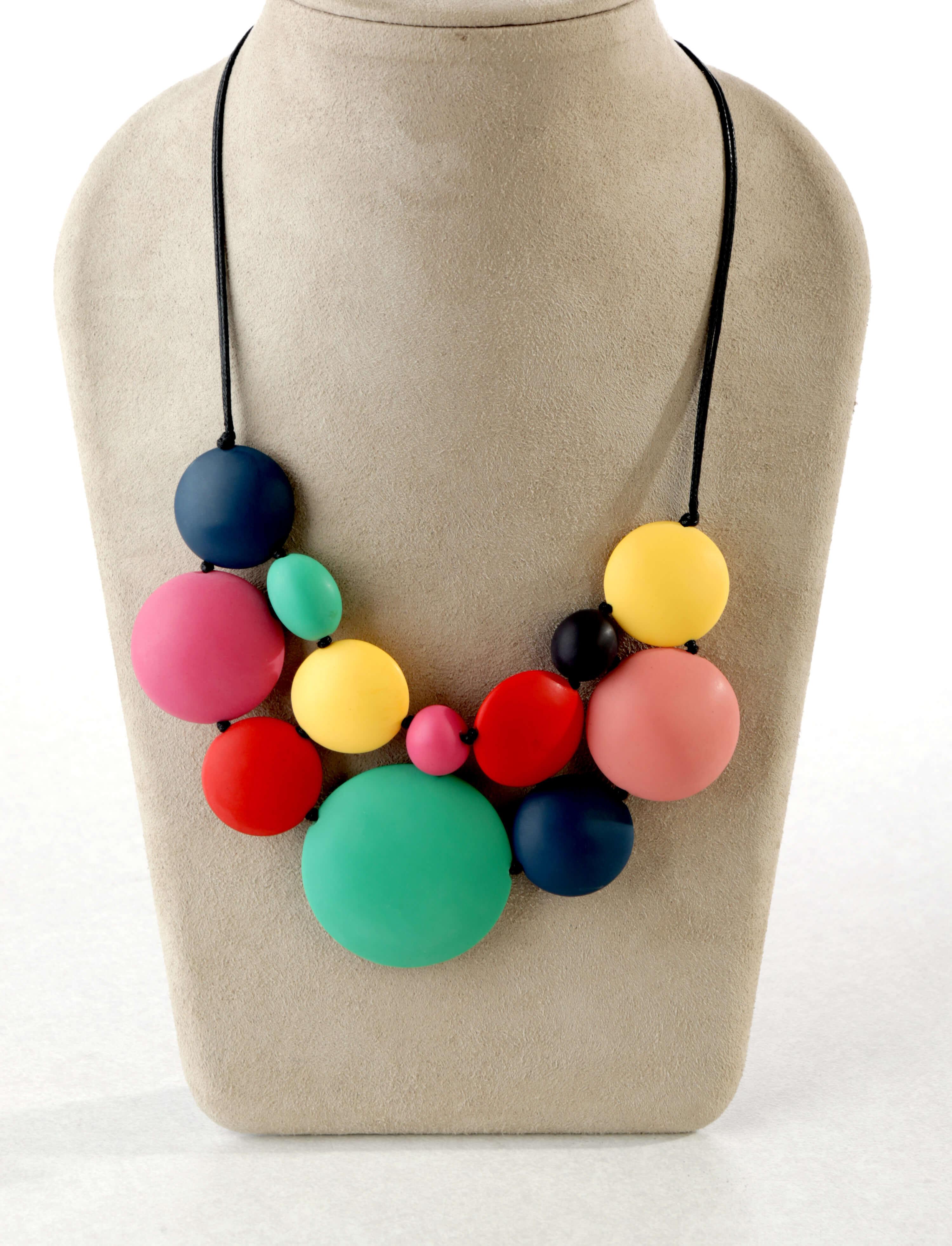 Carousel bubblegum necklace