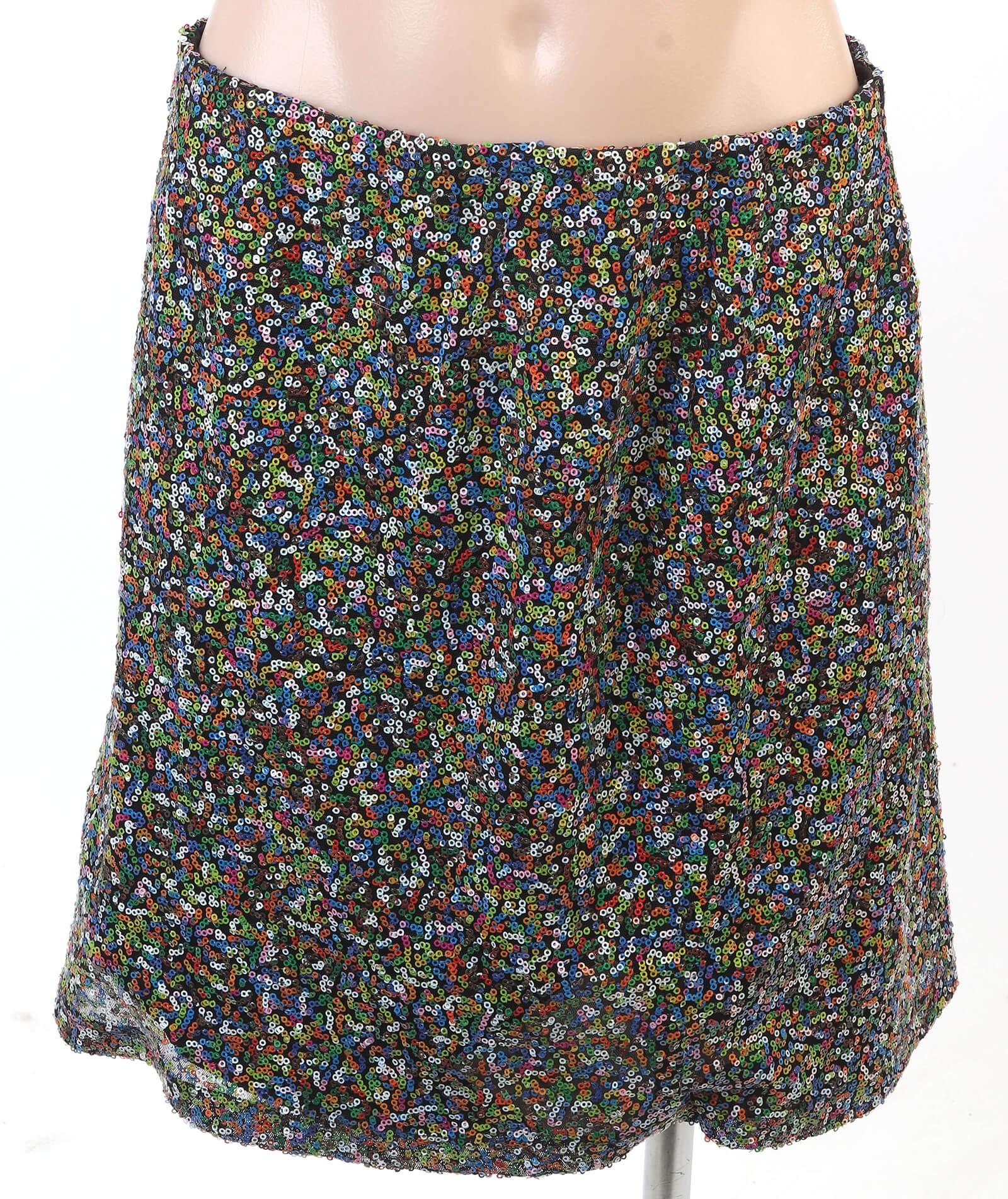 Custom sequined skirt