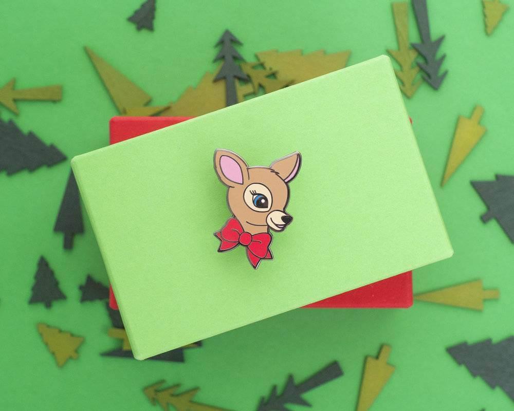 Enamel deer pin