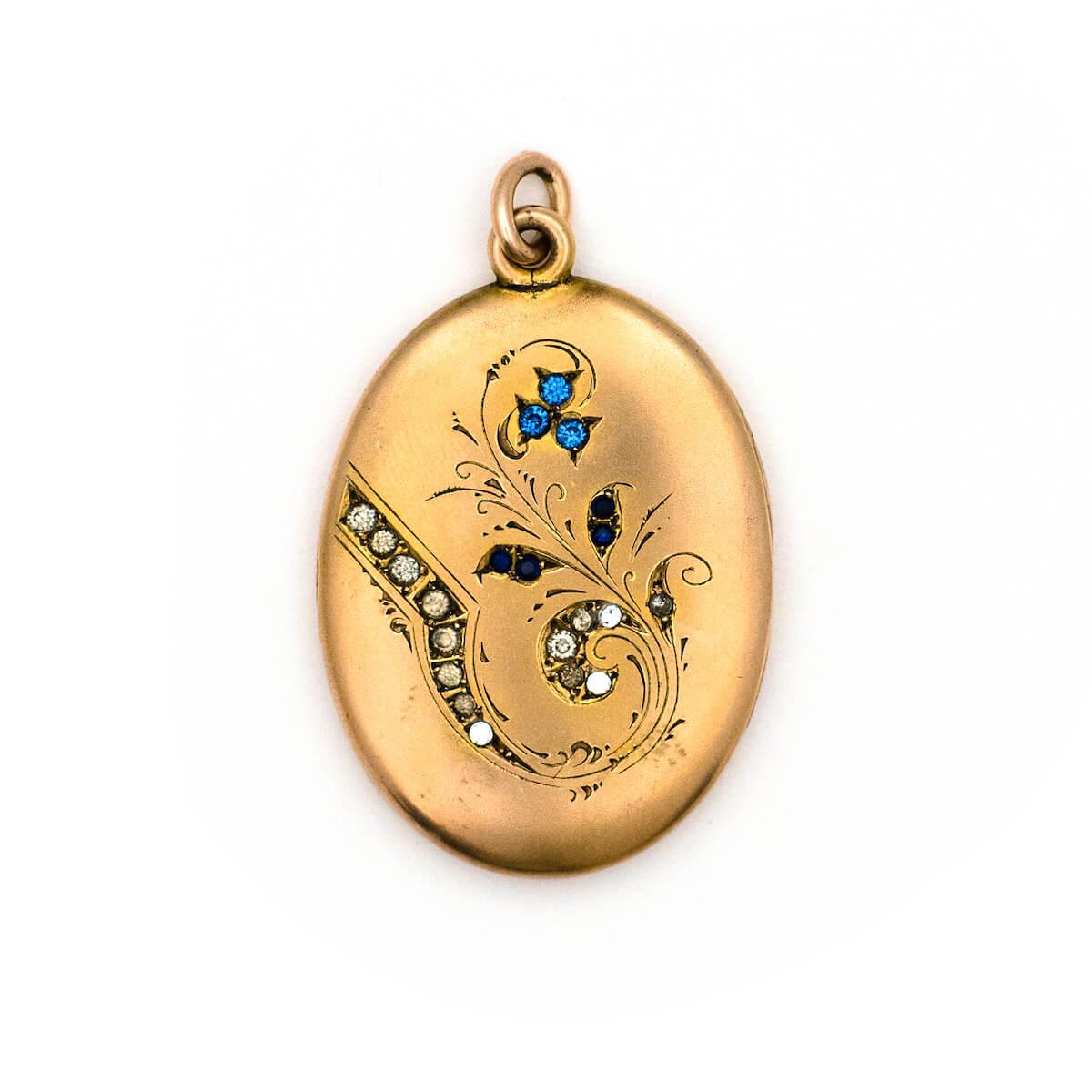 Art Nouveau floral locket