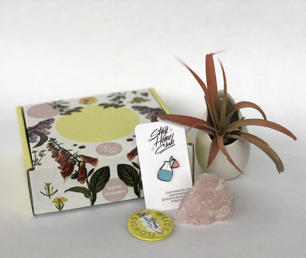 Flowers and Weeds subscription gift box