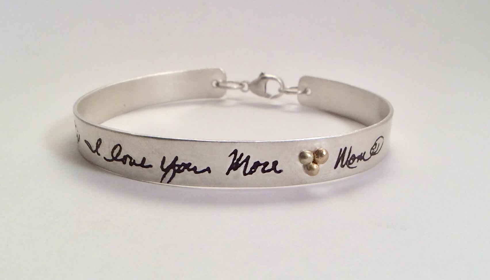 From the Heart thin bangle bracelet