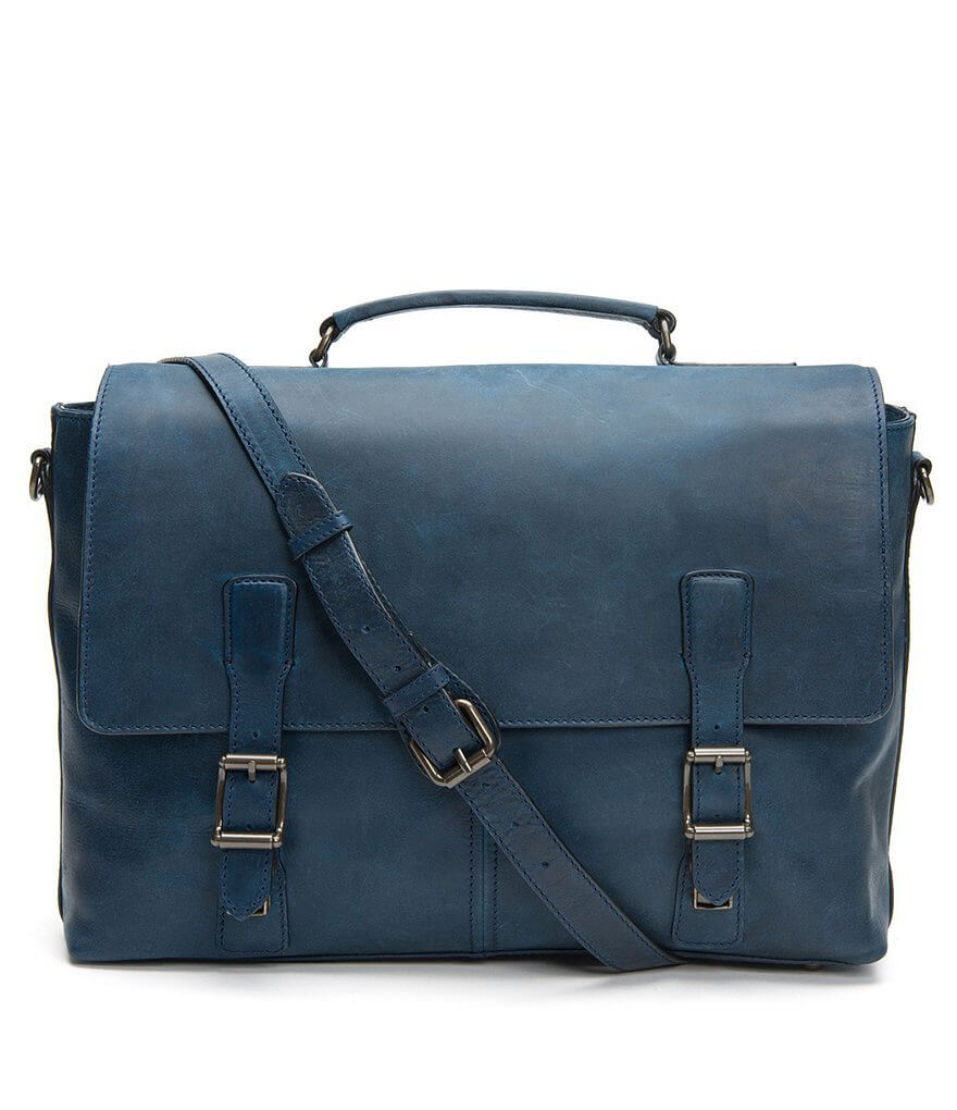 Frye Logan flap briefcase