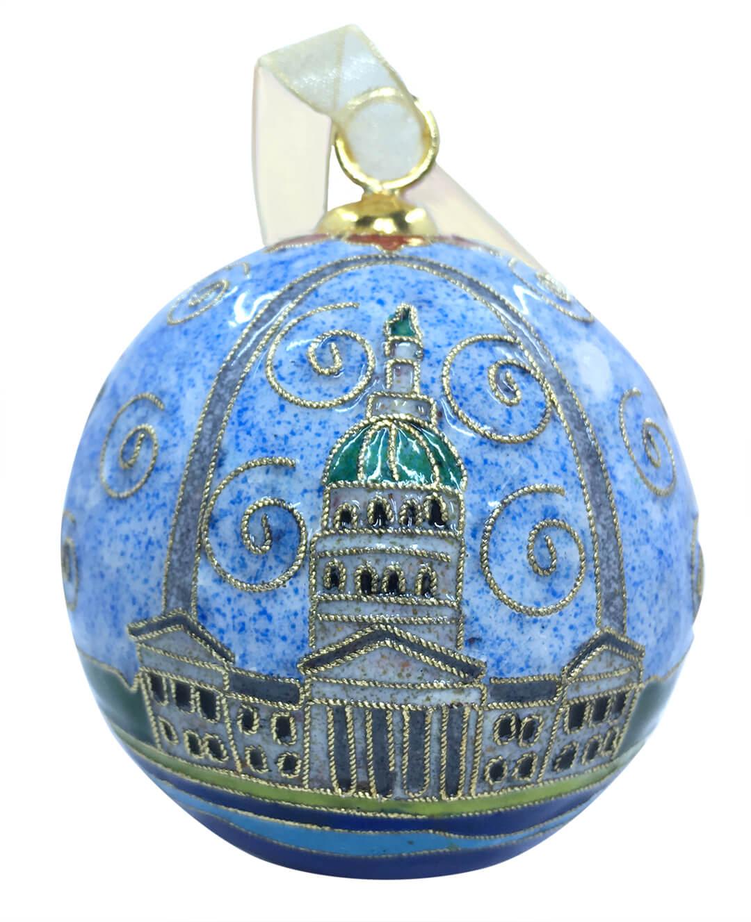 Gateway Arch Cloisonne ornament