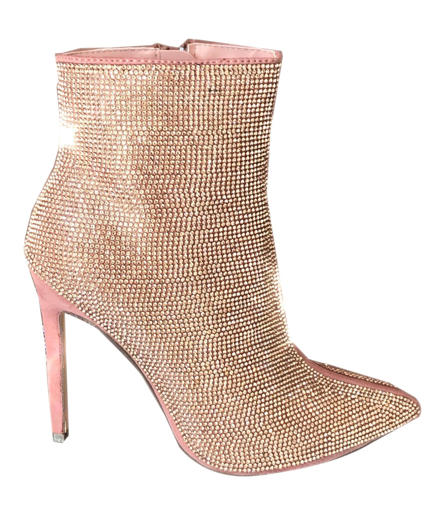 Pink diamond bootie