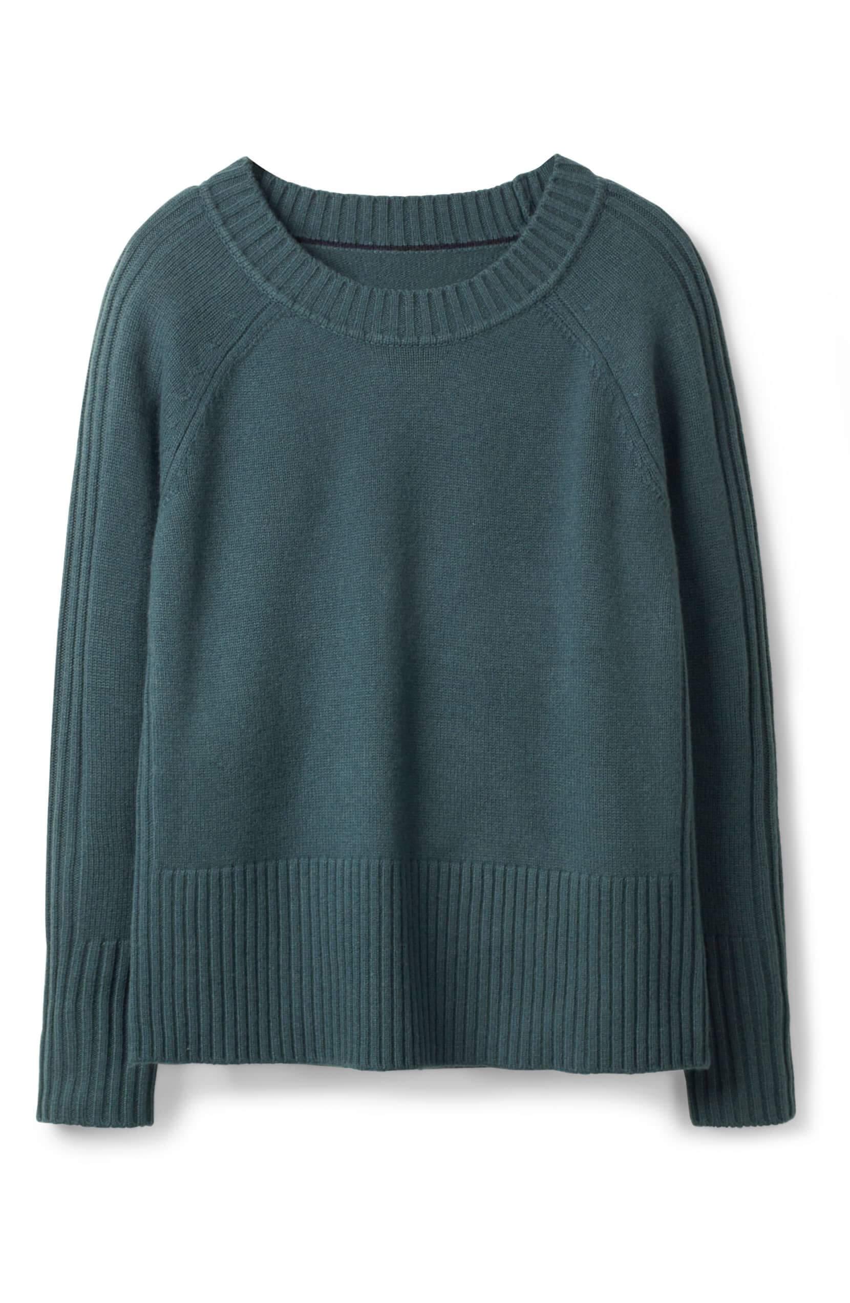 Heidi ribbed sleeve wool cashmere sweater