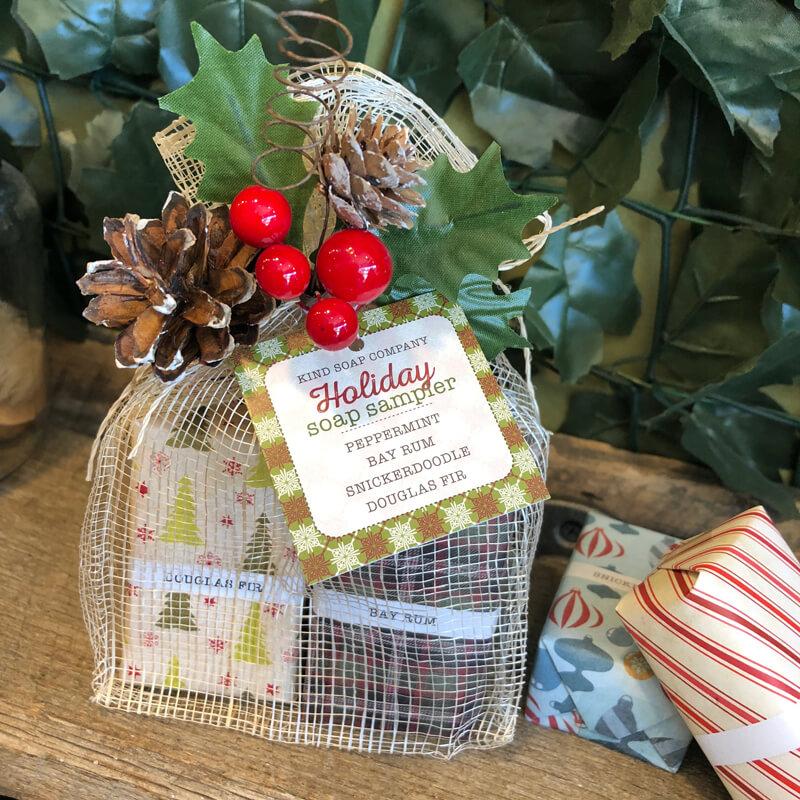 Holiday soap sampler