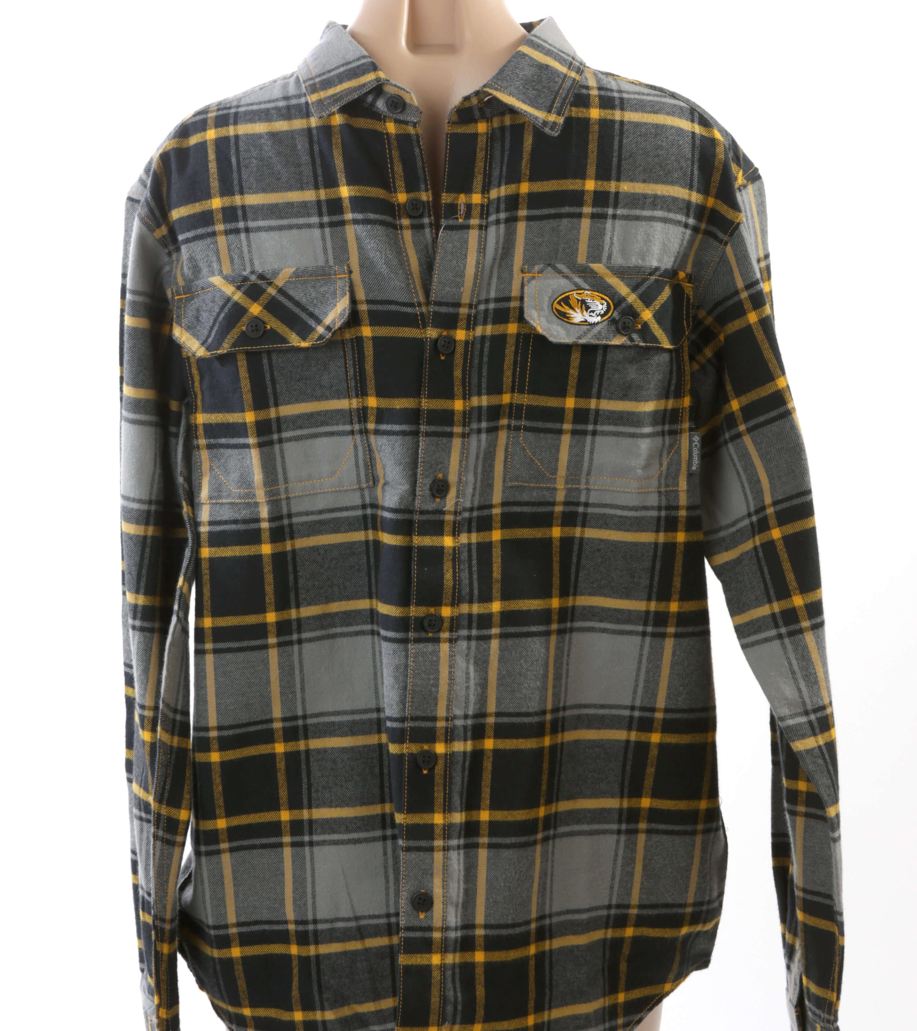 Mizzou men's flannel shirt