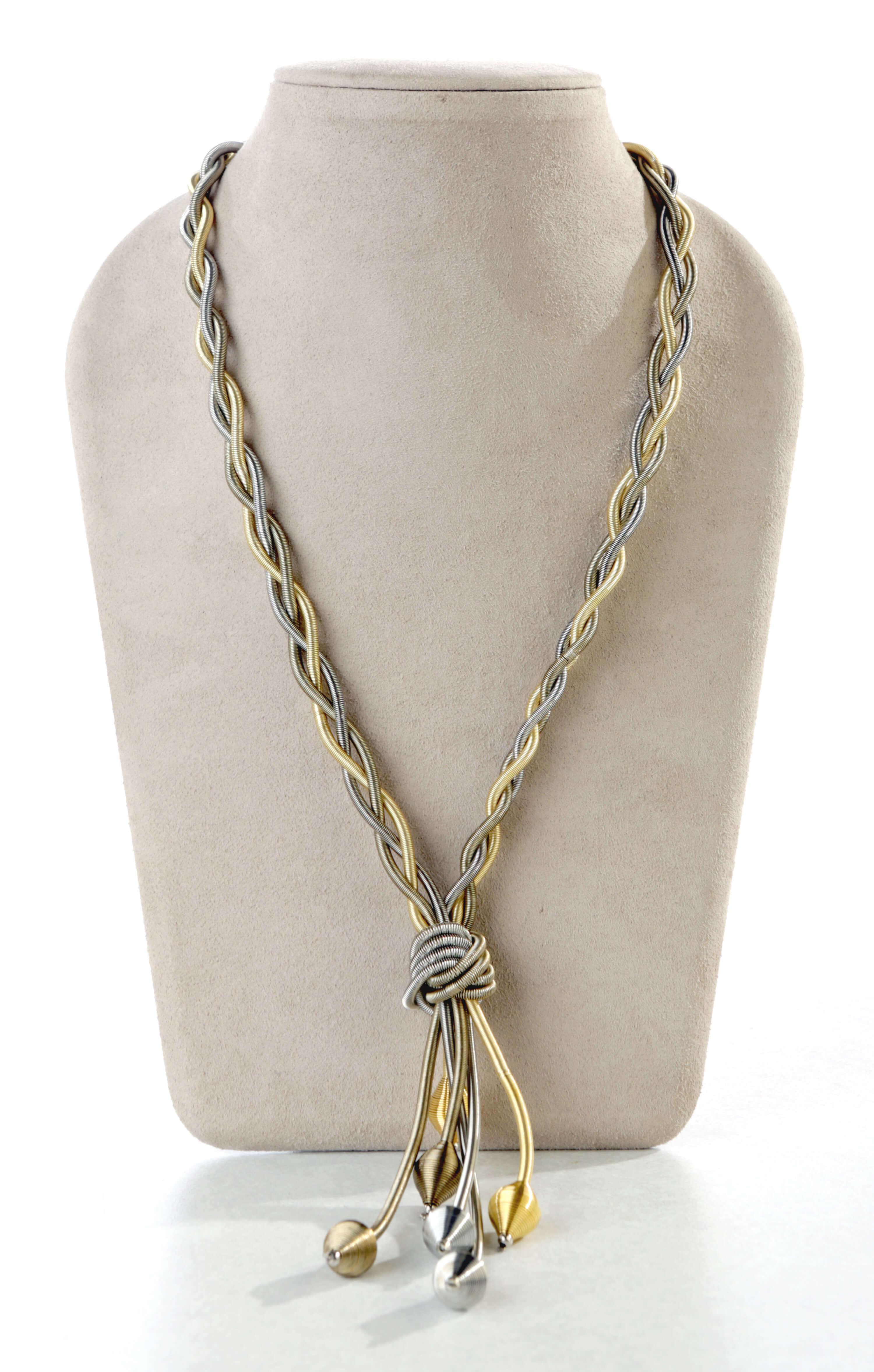 Piano wire necklace