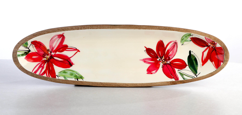 Poinsettia tray