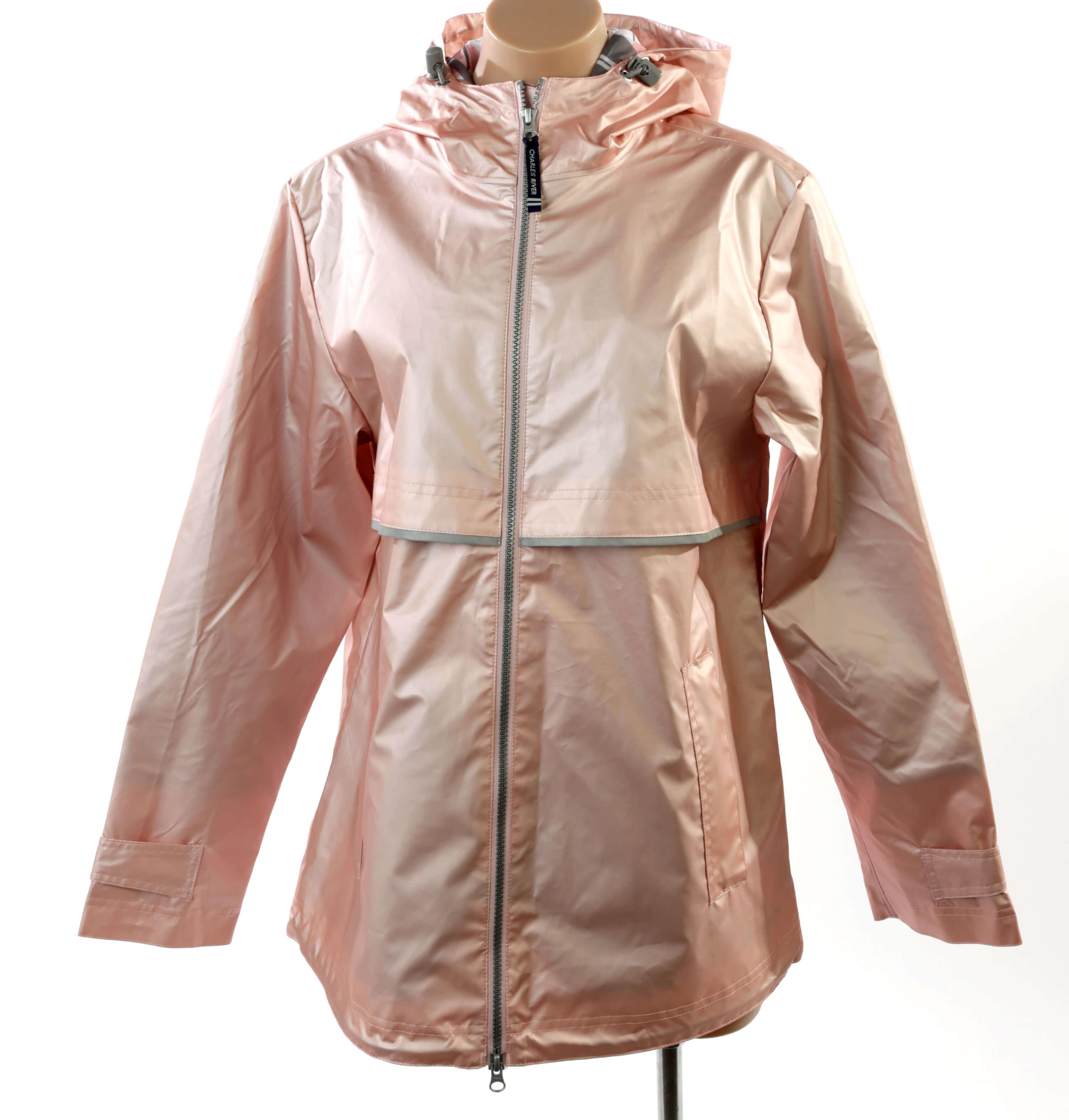 Rose gold rain jacket