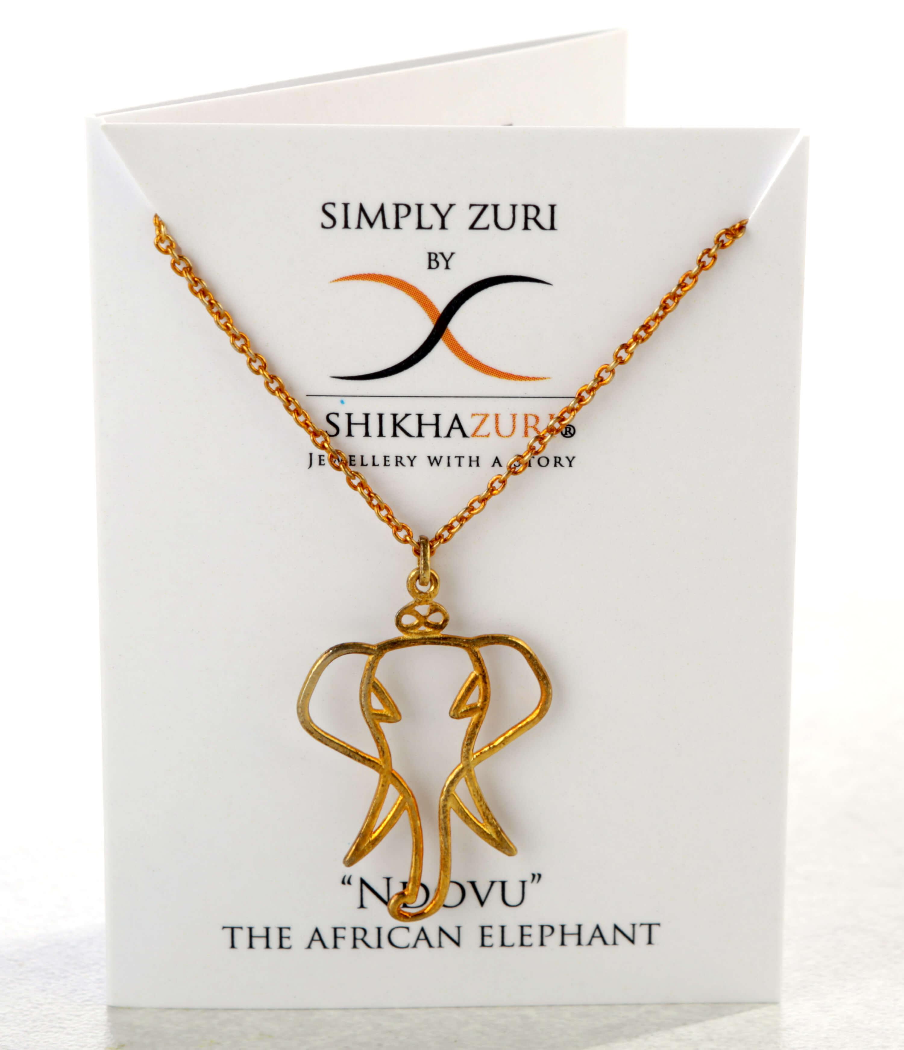 Simply Zuri elephant necklace