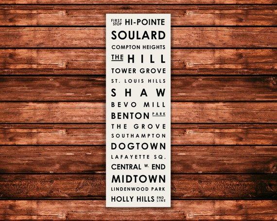 St. Louis neighborhood print