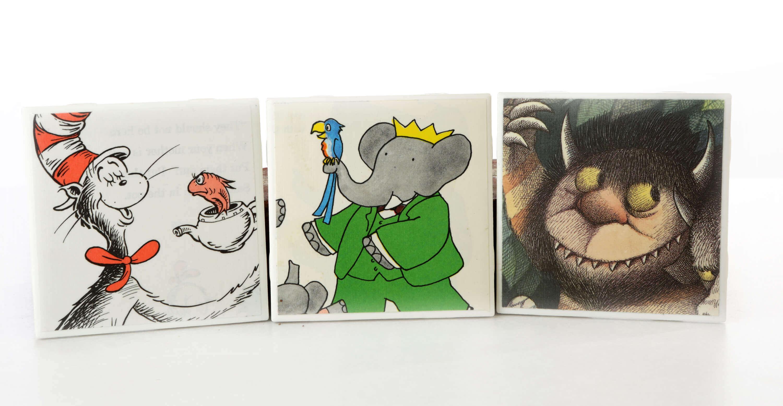 Children's storybook coasters