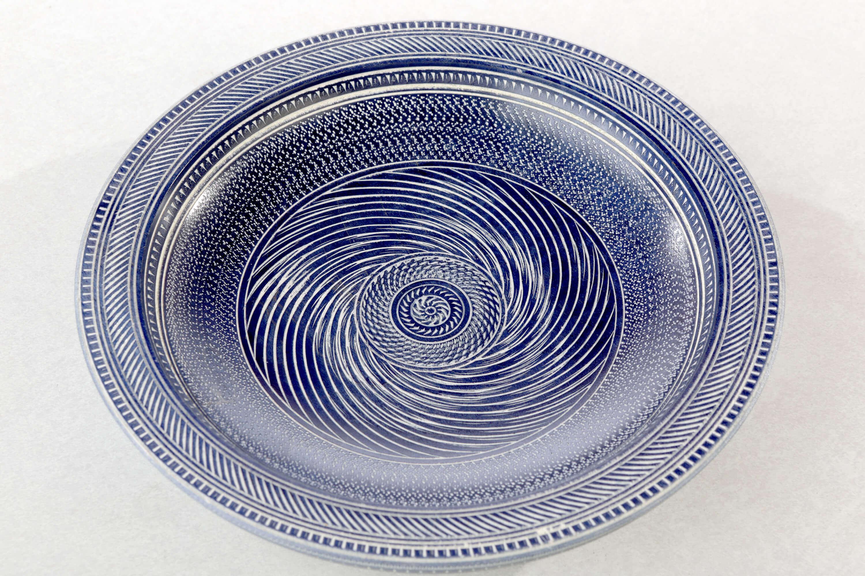 Maple Moroccan blue bowl