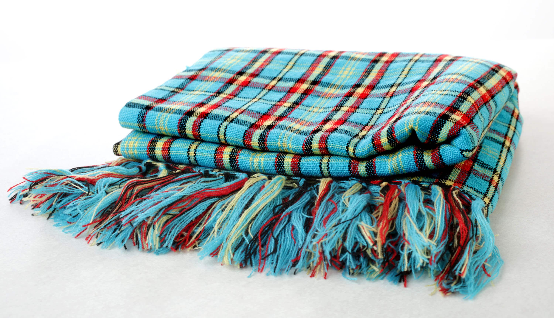 Masai fringed scarf
