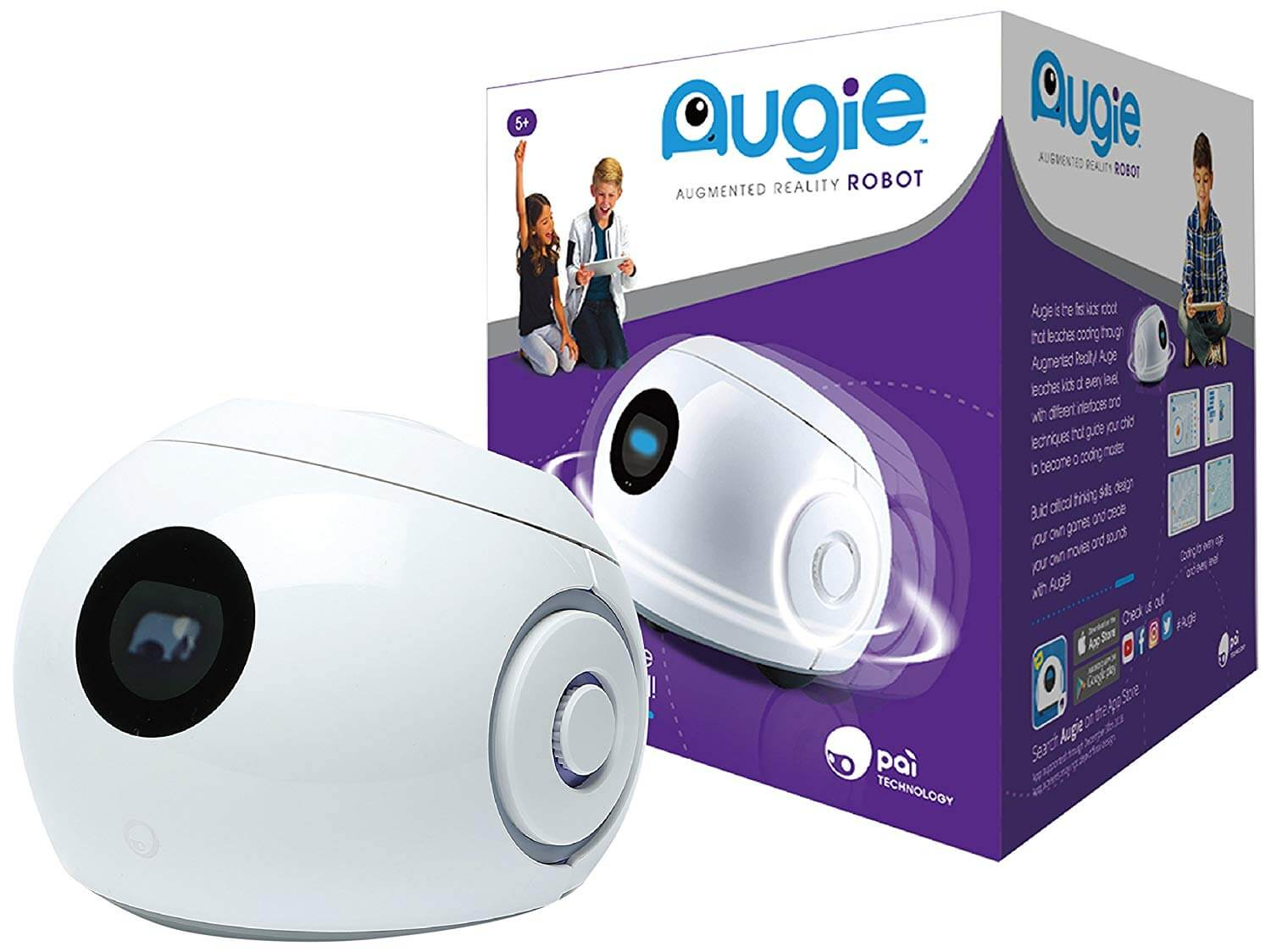 Pai Technology Augie Code Your Own Adventure with Augie, The Augmented Reality Coding Robot