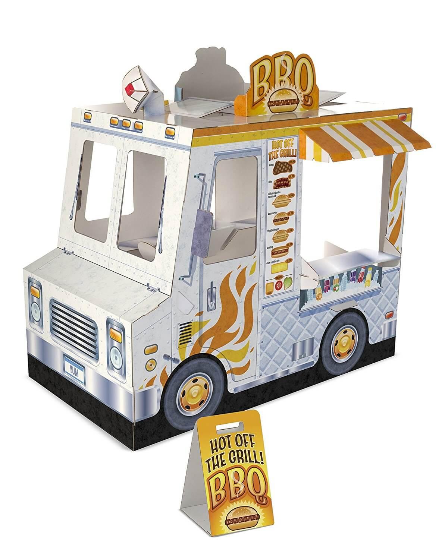Melissa & Doug Food Truck Indoor Corrugated Playhouse