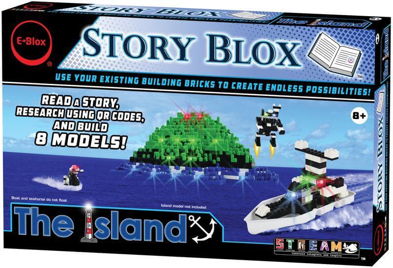 Story Blox: The Island - E-Blox LED Light-Up Building Blocks Stories
